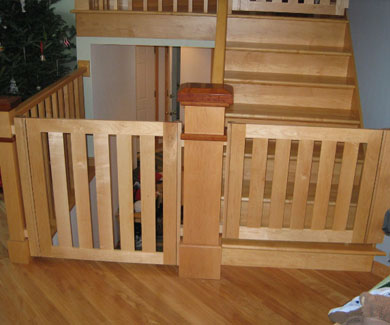 Gatekeepers Photo Gallery | Baby Gates, Pet Gates, Safety Gates, Child Gates  | Stair Gate Images   Gatekeepers, DeForest, WI